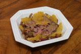 Roastbeef mit Orangen-Zwiebeln