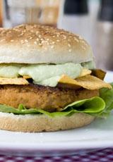 Tex-Mex-Burger mit Guacamole